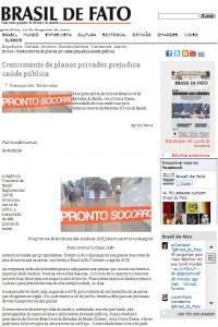 """Brasil de fato: """"Para presidenta do Cebes sociedade deve se mobilizar pelo fortalecimento do SUS"""""""