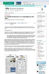 """Observatório da Imprensa: """"Na página do Cebes, uma das diretoras da entidade, Isabel Bressan, contesta o estímulo ao crescimento do mercado privado de planos"""""""