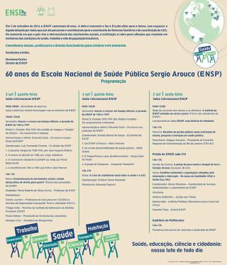 ENSP comemora 60 anos