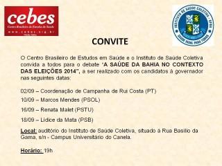 Cebes Bahia promove debates com candidatos das Eleições 2014