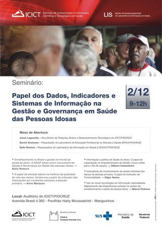 Sistemas de informação da saúde da pessoa idosa são tema de seminário na Fiocruz