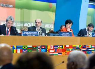 Brasil assina Declaração de Roma sobre Nutrição e Marco de Ação