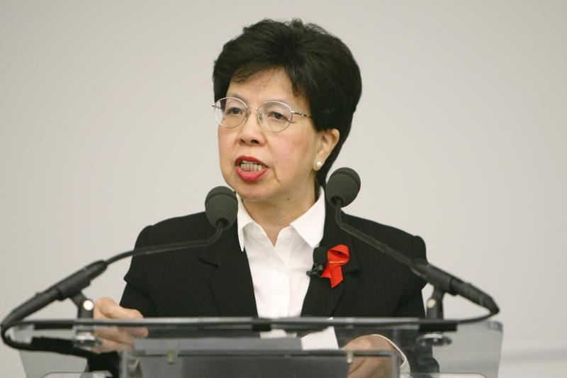 Foto:Paulo Filgueiras/UN | A diretora-geral e principal instância decisória da OMS, Margaret Chan