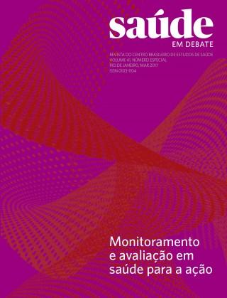 Revista Saúde em Debate v. 41 nº especial 1 – Monitoramento e avaliação em saúde para a ação