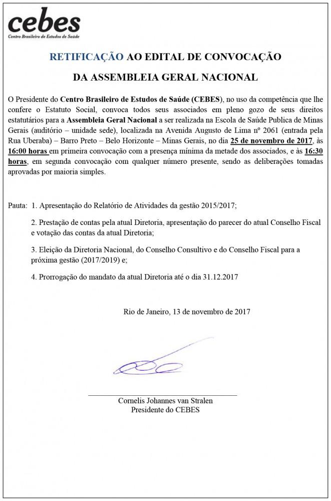 Edital de convocação Assembleia eleição 24.10.17