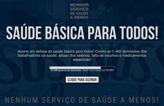 Cebes apoia a luta em defesa do direito a saúde no Rio de Janeiro