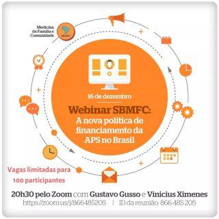 Webinar sobre a nova política de financiamento da APS no Brasil