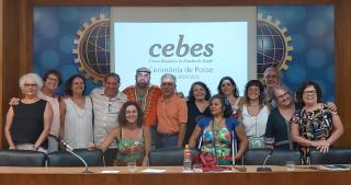 Nova diretoria do Cebes - gestão 2020-21 - toma posse