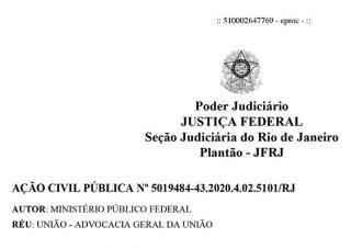 """Justiça Federal suspende campanha """"Brasil não pode parar"""" contra isolamento social"""