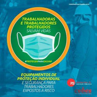 CEBES apoia campanha Trabalhadores e trabalhadoras protegidos salvam vidas