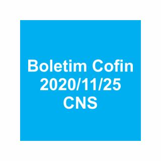 Boletim Cofin 2020/11/25