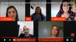Série de Prosas Cebianas aborda ações de enfrentamento e cuidado na pandemia no contexto da América Latina