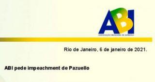 Associação Brasileira de Imprensa pede impeachment de Pazuello